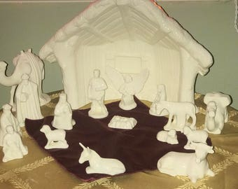 Porcelain nativity