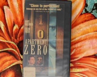 Apartment Zero VHS Movie, Gay Romance Drama Thriller, Argentine-British Political Thriller film 80s VHS Movie Hart Bochner Colin Firth