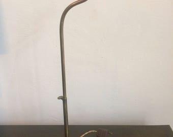 Bronze  lamp with platform for presentation