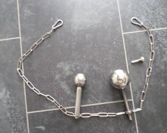 Chastity Belt Woman Anal Enema Plug Peg Stainless Steel Chain Princescepter Urethra