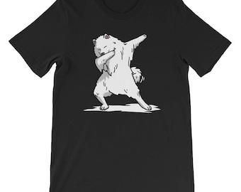 Cute Dabbing Samoyed T-Shirt Funny Dog Gift