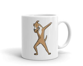 Cute Dabbing Italian Greyhound Mug Funny Dab Dance Dog Gift