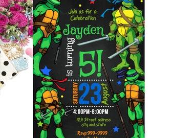 INSTANT DOWNLOAD - Turtle Invitation - Turtle Birthday Invitation - Turtle Invite - Invitation - Birthday Invitation