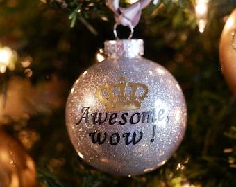 Christmas ornaments, Hamilton Christmas Ornament, Silver  Ornament, Alexander hamilton christmas ornament, Glitter Christmas Ornaments