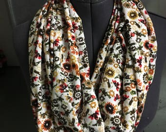 Floral infinity scarf