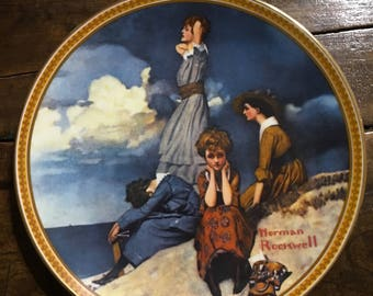 """Norman Rockwell """"Waiting On The Shore"""""""