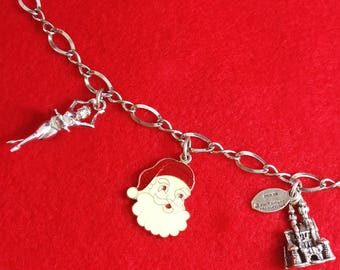 Sterling Silver Disneyland Castle Charm Bracelet