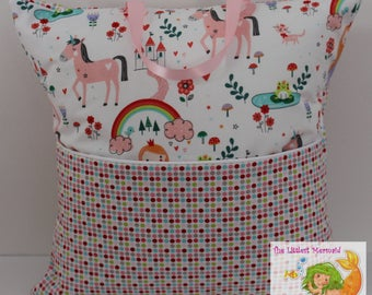 Unicorn/Fairy Tale Princess Reading Pillow // Kids Reading Pillow // Pocket Pillow // Unicorn Pillow