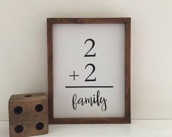 Family Flash Card Wood Sign|Custom Farmhouse Family Sign|Farmhouse Decor|Family Painted Wood Sign|Gallery Wood Sign|Rustic Family Sign