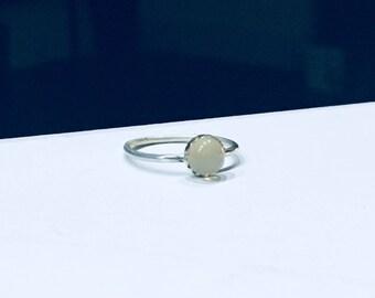 Handmade moonstone sterling silver ring