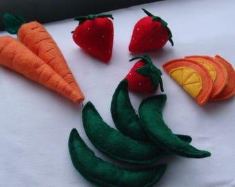 Felt Food - Fruits & Veggies Set