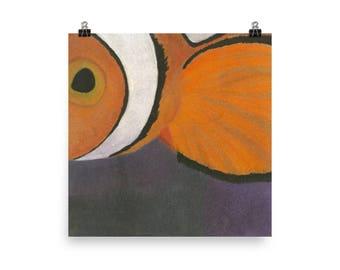 Clown Fish - Beautiful Archival Cotton Rag Fine Art Giclée Print Supporting the Nonprofit Fresh Artists