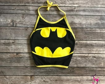 Batman Super Hero Crop Top
