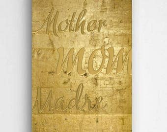 Personalized Mothers Gold Canvas Sign - Gold Background - Personalized Print - Family Print - Home Wall Decor - Wall Art