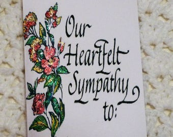 Heartfelt Sympathy Greeting Card, Sparkle Greeting Card, Handmade Greeting Card, Made in the USA, #178