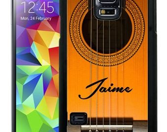 Personalize Rubber Case For Samsung Note 3, Note 4, Note 5, or Note 8- Acoustic Guitar