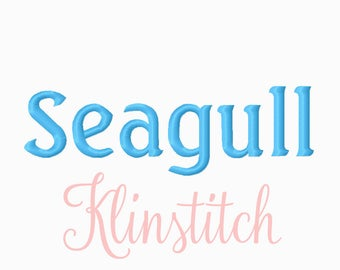 50% Sale!! Seagull Embroidery Fonts 4 Sizes Fonts BX Fonts Embroidery Designs PES Fonts Alphabets - Instant Download
