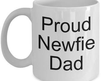 Proud Newfie Dad mug, coffee cup, Newfoundland Dog