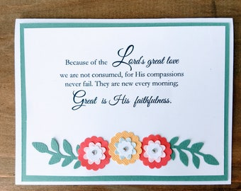 Set of 5 Bible Verse NoteCards/Praying for You/Handmade/Thinking of You/Blank/All Occasion