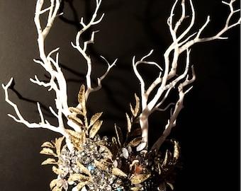 Winter's Queen, fairy Crown, costume, head piece, cosplay, ice queen, festival crown, Halloween, tiara, snow queen, winter fairy, jeweled