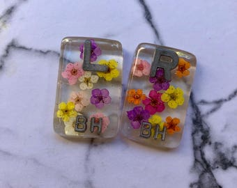 Clear flower X-ray markers