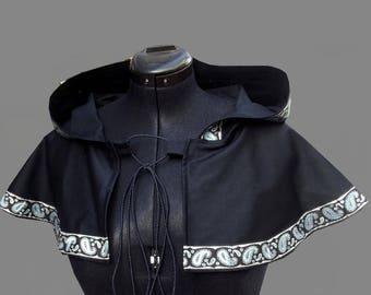 Medieval cape cloak gown Bridal Blue handmade