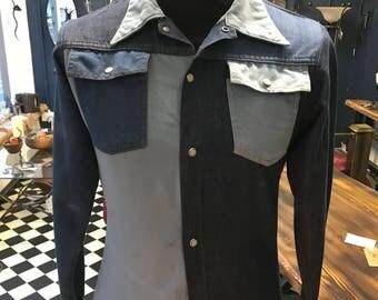 Vintage denim shirt - j c penny - 1970 s