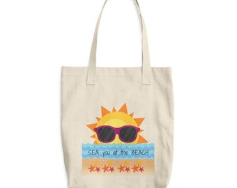 SEA you at the BEACH Cotton Tote Bag