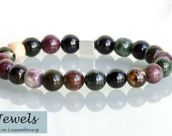 Women bracelet tourmaline natural gemstone beads