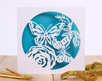 Butterfly Laser Cut Greetings Card - Butterfly Birthday Card