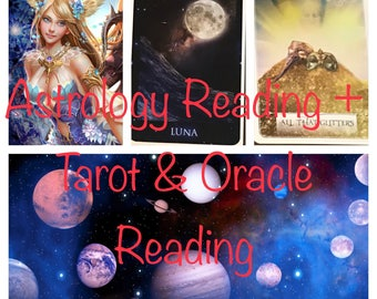 Astrology Reading & Tarot Reading Combo - Sirian Starseed Tarot and Wisdom of the Oracle - Five Dollar Divination
