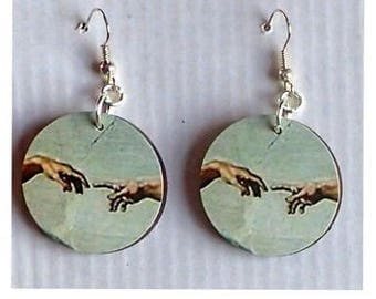 Michelangelo The Creation of Adam earrings