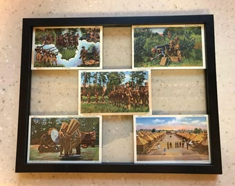 Framed U.S. Army Series 1940-1941 Postcards *Mint Condition*