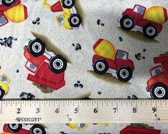 Dig It, Quilting Treasures,  Fabric, Trucks, Boys, Kids, Fabric