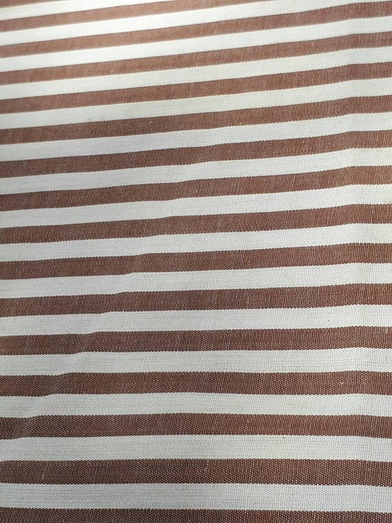 Antique Early 20th Century Farmhouse Victorian Fine Cotton Striped Shirting Shirt Fabric From BellStarVintage On Etsy Studio
