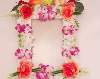 Tropical flowers and fruits frame-size 10*15