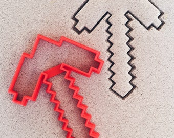 Minecraft Pickaxe Cookie Cutter
