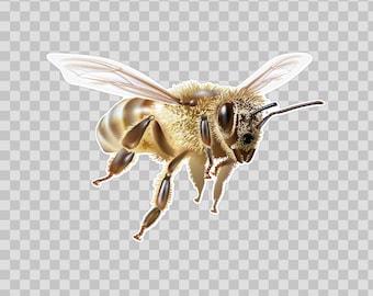 Sticker Decals Flying Bee honey Tablet Laptop Durable 06333