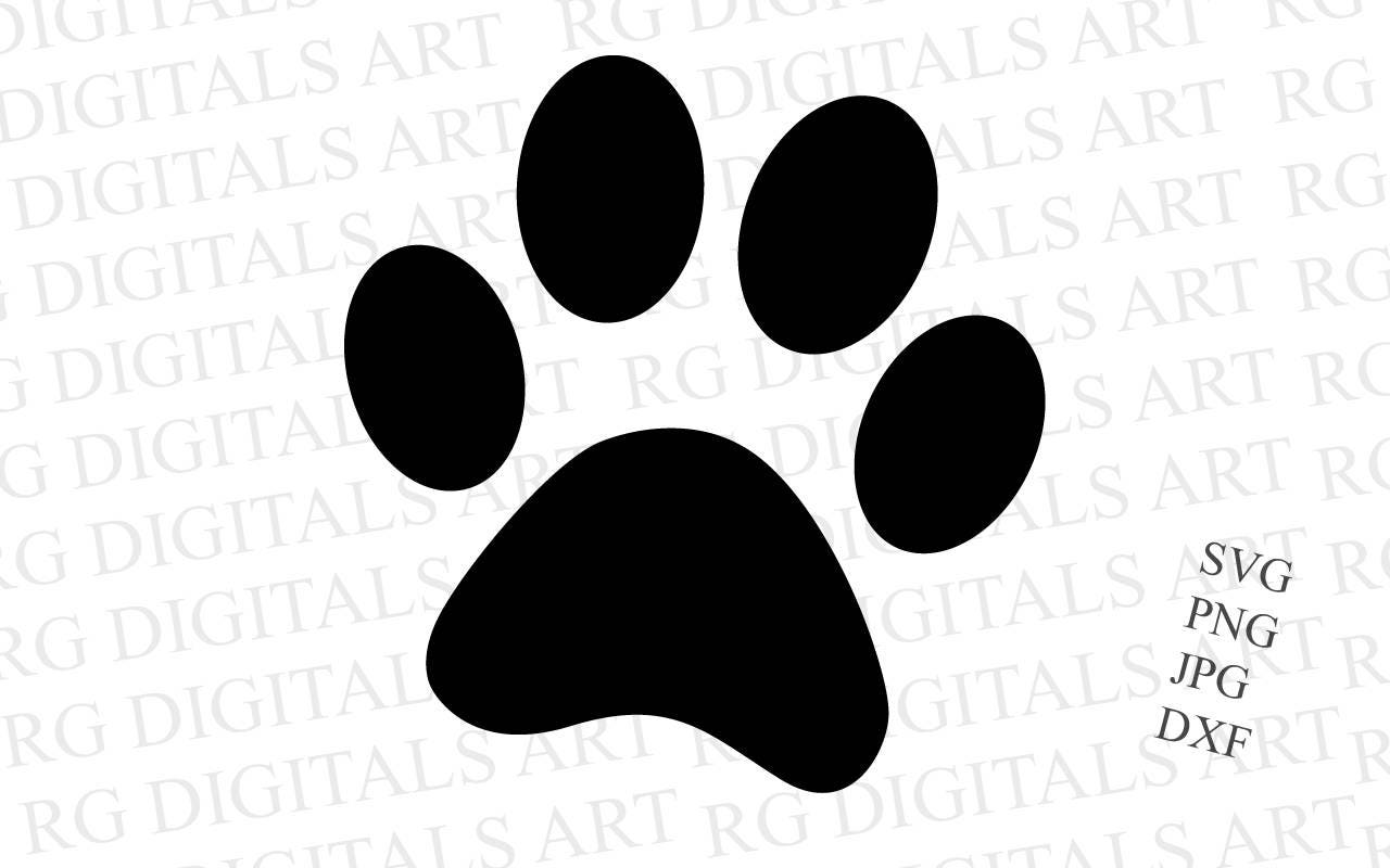 Download Paw Print Svg, Dog Svg, Svg Files, Dog Paw, Cricut Cut ...