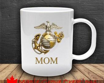 Marine Mom Mug - 11 oz ceramic coffee mug