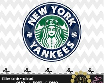 New York Yankees coffee svg,png,dxf,shirt,jersey,baseball,college,university,decal,proud mom,disney,softball,college,astros,starbucks,ncaa