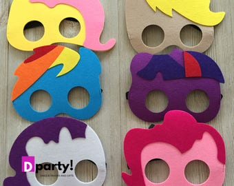 Pony Party Favors, Pack of 6, Pony Party Masks, Pony Birthday, Horse Party Masks, Horse Birthday