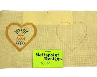 Vintage Pineapple Needlepoint Canvas Mettapoint Designs Miniature Sachet Canvas
