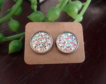 Crystal 12mm Stud Earrings