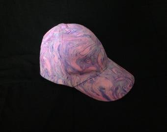 Marbled baseball hats