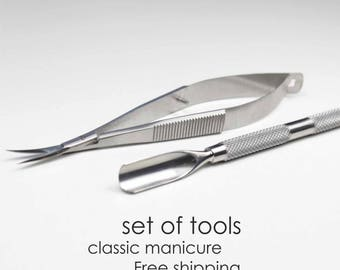 A set of tools for classic manicure