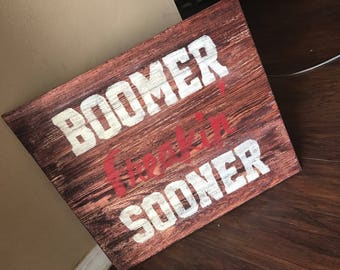 Oklahoma Sooner Sign