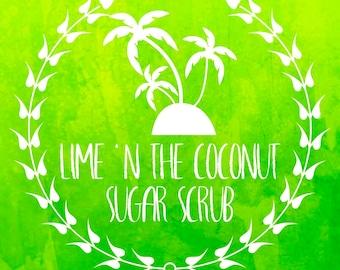 Lime 'N The Coconut Sugar Scrub