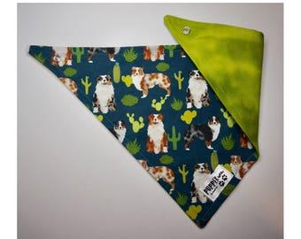 pupperwear | aussie shepherd cactus succulents | dog bandana