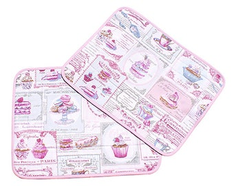 "Set of two placemats Betty ""Cupcakes"""